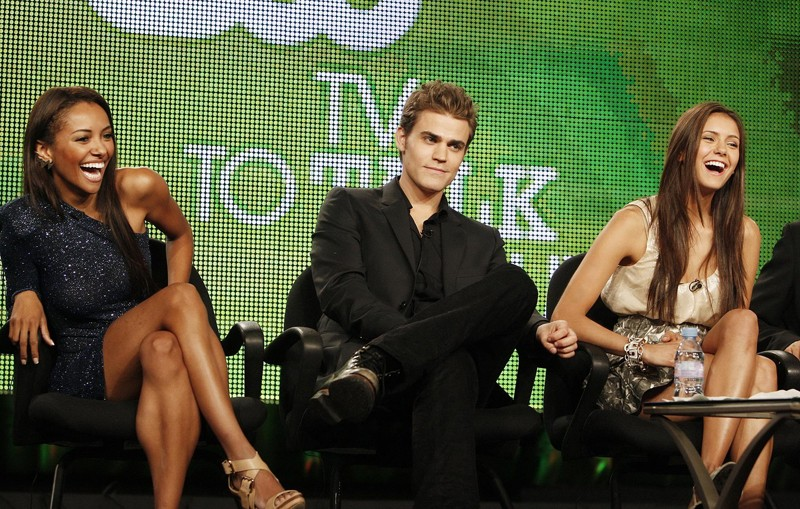 Katerina Graham, Paul Wesley e Nina Dobrev al CW TCA Day Panels CW Network portion of the 2009 Summer Television Critics Association Press Tour il 4 Agosto 2009