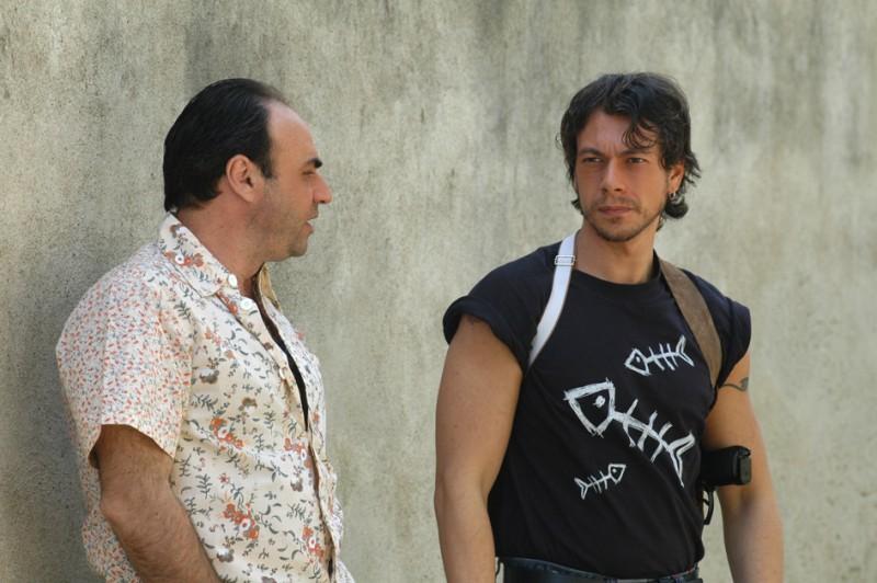 Giuseppe Milazzo Andreani e Gaetano Amato sul set di Incuboss Regia di Vincenzo Peluso