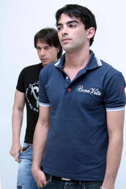 Giuseppe Milazzo Andreani e Primo Reggiani in un servizio fotografico per il settimanale Diva e Donna