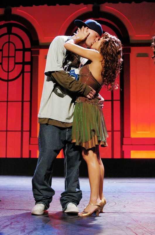 Il bacio tra Channing Tatum e Jenna Dewan in una scena di Step Up