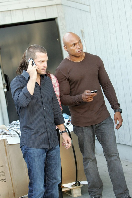 Il terzetto in una sequenza dell'episodio Keepin' it Real di NCIS: Los Angeles