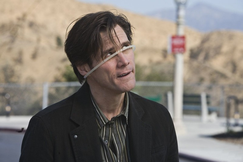 Jim Carrey in una scena comica del film Yes Man