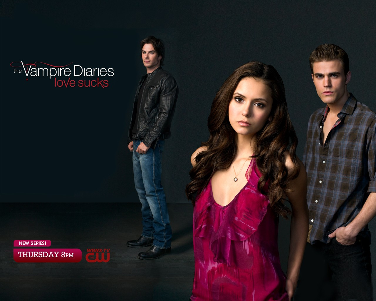 Wallpaper: i tre protagonisti della nuova serie tv The Vampire Diaries