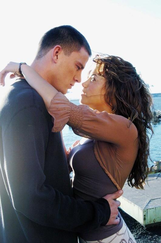Channing Tatum e Jenna Dewan in una scena del film Step Up