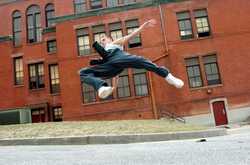 Channing Tatum in una scena del film Step Up