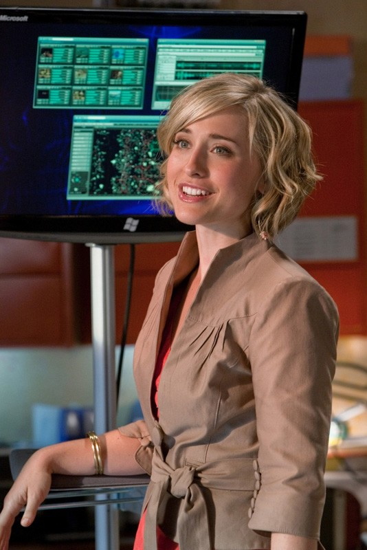 Chloe (Allison Mack) in una scena dell'episodio Kandor di Smallville
