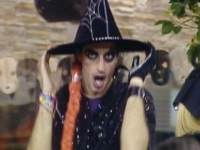 Grande Fratello 10 - Maicol Berti durante la festa di Halloween