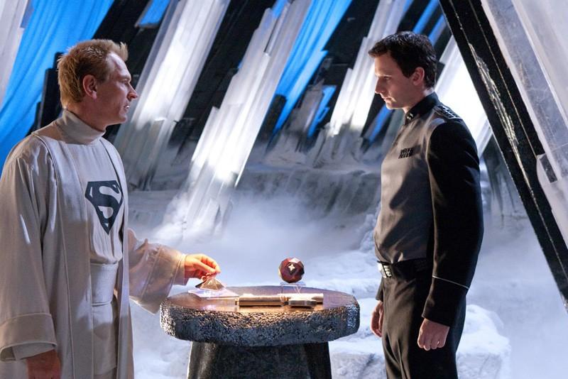 Julian Sands e Callum Blue nell'episodio Kandor di Smallville