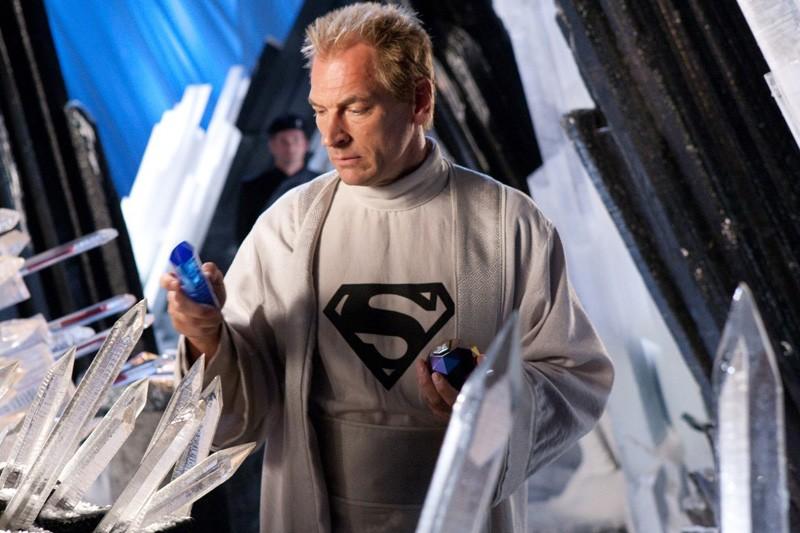 Julian Sands nella casa di ghiaccio nell'episodio Kandor di Smallville