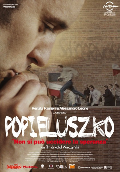 La locandina italiana di Popieluszko - Non si può uccidere la speranza