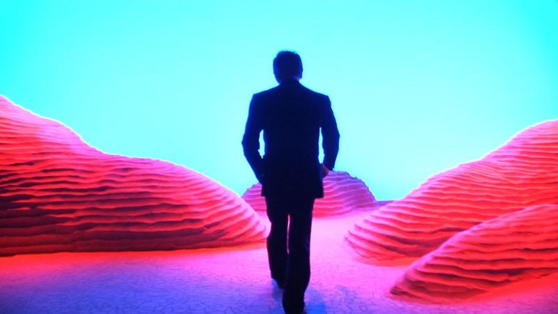 La sagoma dello stilista Valentino nel documentario L'ultimo imperatore, a lui dedicato