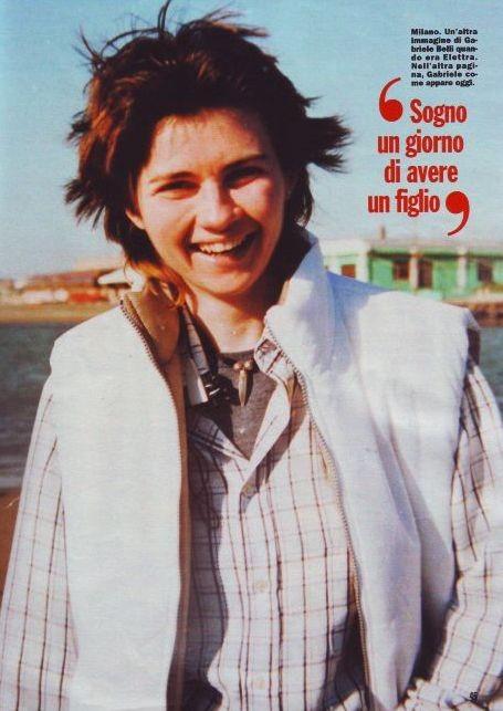 GF10, Una immagine di Gabriele Belli quando era ancora donna, pubblicata da Chi.