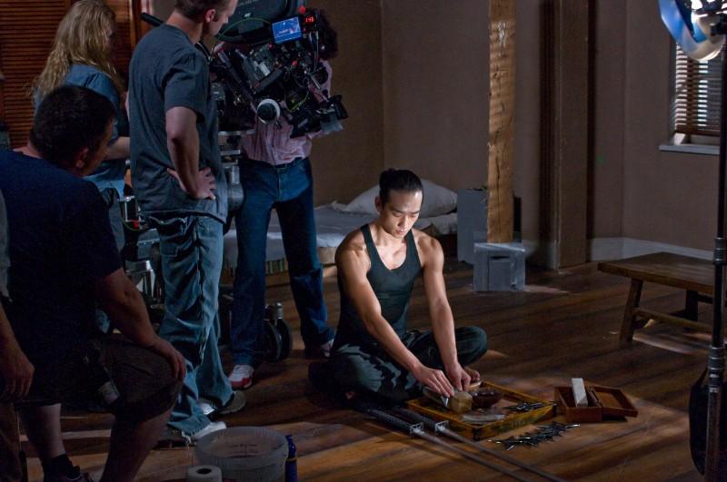 Ninja Assassin, una immagine scattata sul set