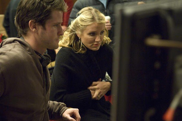Cameron Diaz e Richard Kelly sul set di The Box, di Richard Kelly