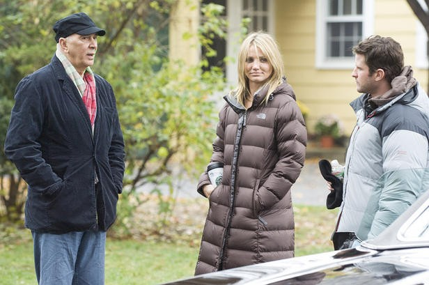 Frank Langella, Cameron Diaz e Richard Kelly sul set di The Box, di Richard Kelly