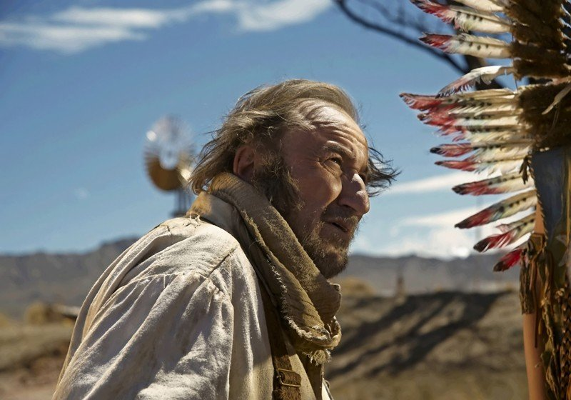 Jean-François Balmer in una scena del film francese Lucky Luke