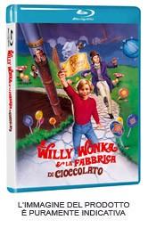 La copertina di Willy Wonka e la fabbrica di cioccolato (blu-ray)