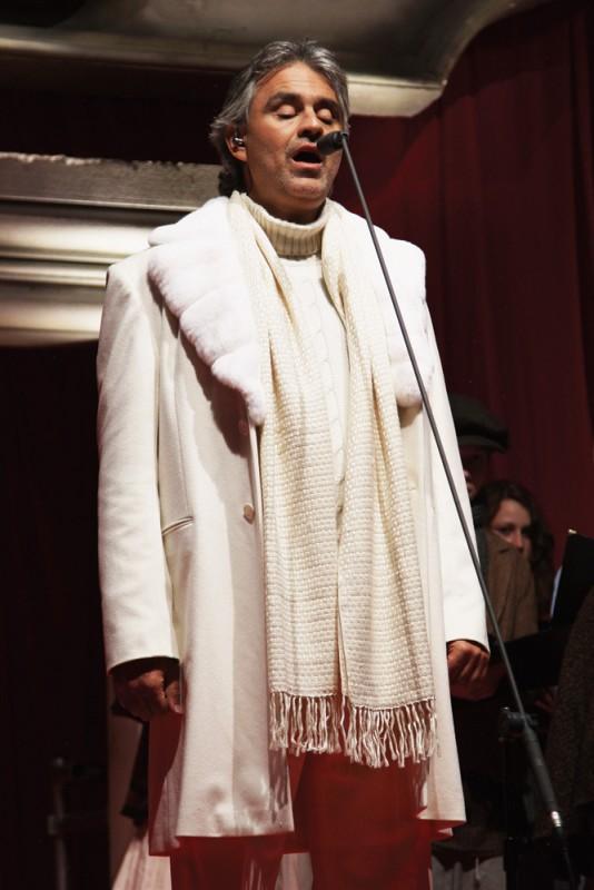 Andrea Bocelli in occasione della premiere di A Christmas Carol a Londra