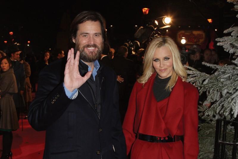 Jim Carrey e Jenny McCarthy alla premiere di A Christmas Carol