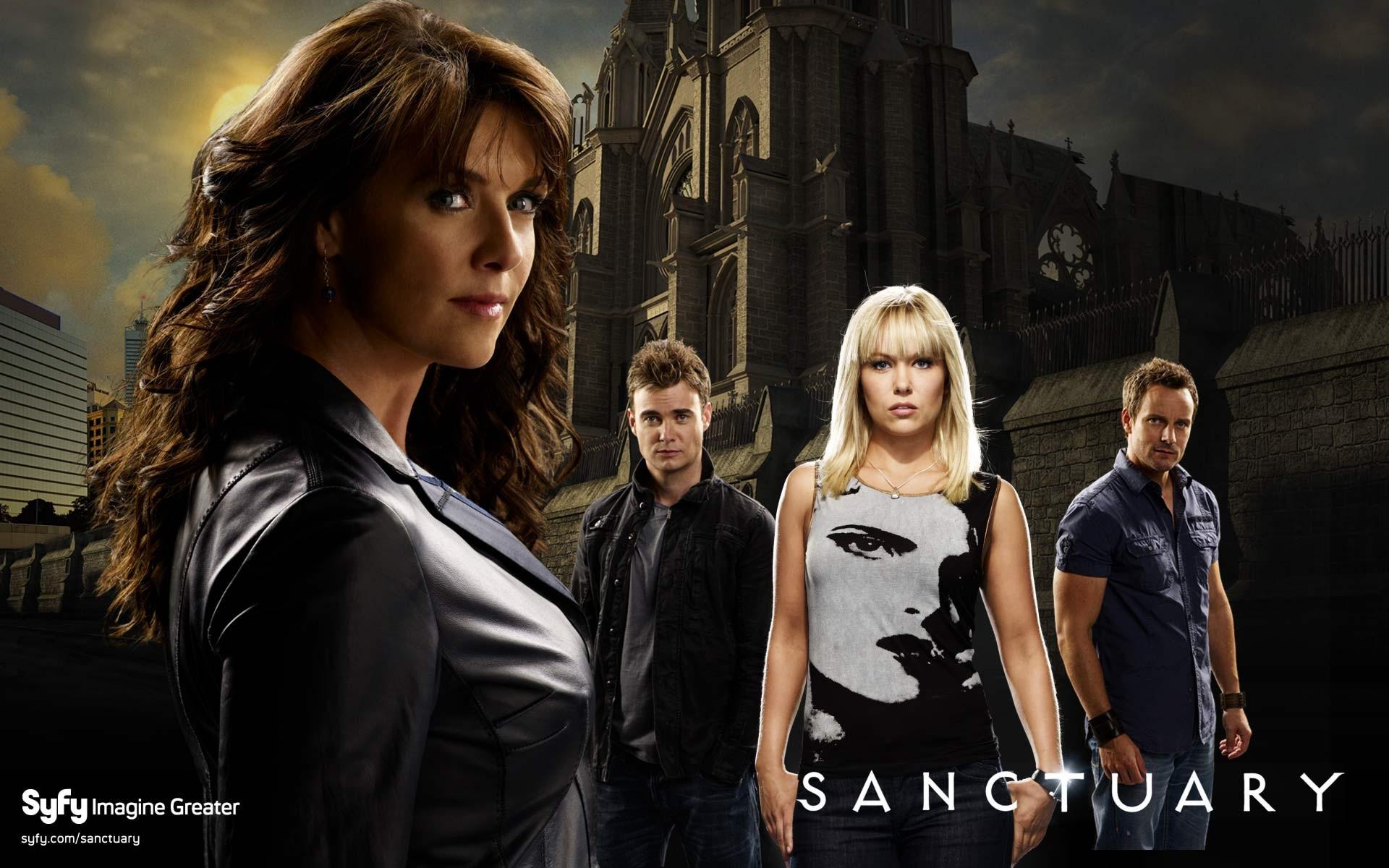 Sanctuary: Un wallpaper del cast della serie