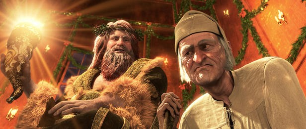 Scrooge nel film A Christmas Carol (2009) di Robert Zemeckis