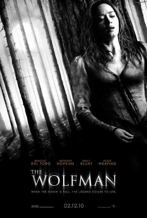 Primo poster per The Wolfman