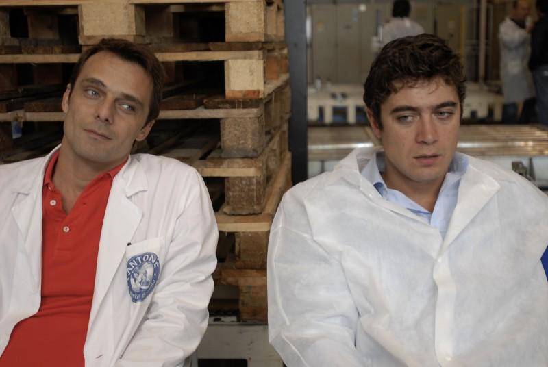 Alessandro Preziosi e Riccardo Scamarcio sul set di Mine vaganti
