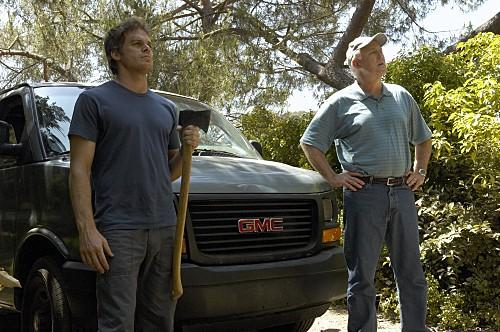 John Lithgow e Michael C. Hall nell'episodio Slack Tide di Dexter