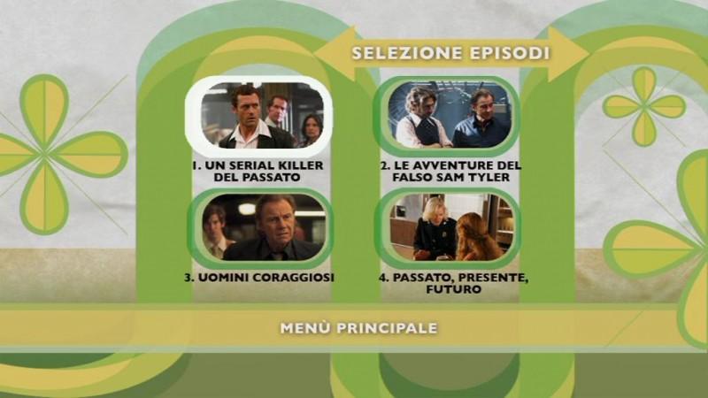Un'immagine del menu di selezione episodi del disco 1 del DVD di Life on Mars