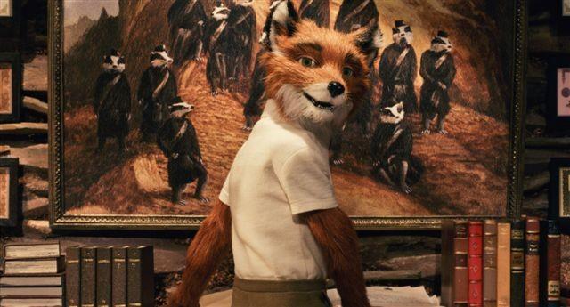 Una scena del film d'animazione The Fantastic Mr. Fox