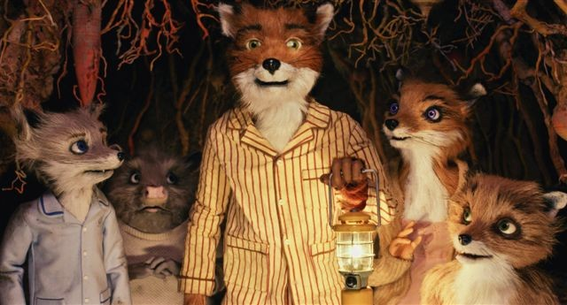 Una scena del film d'animazione The Fantastic Mr. Fox (2009)