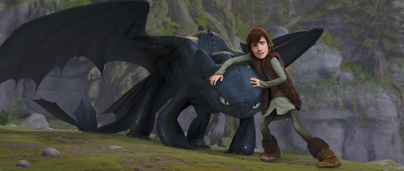 Una scena del film Dragon Trainer (How to Train Your Dragon)