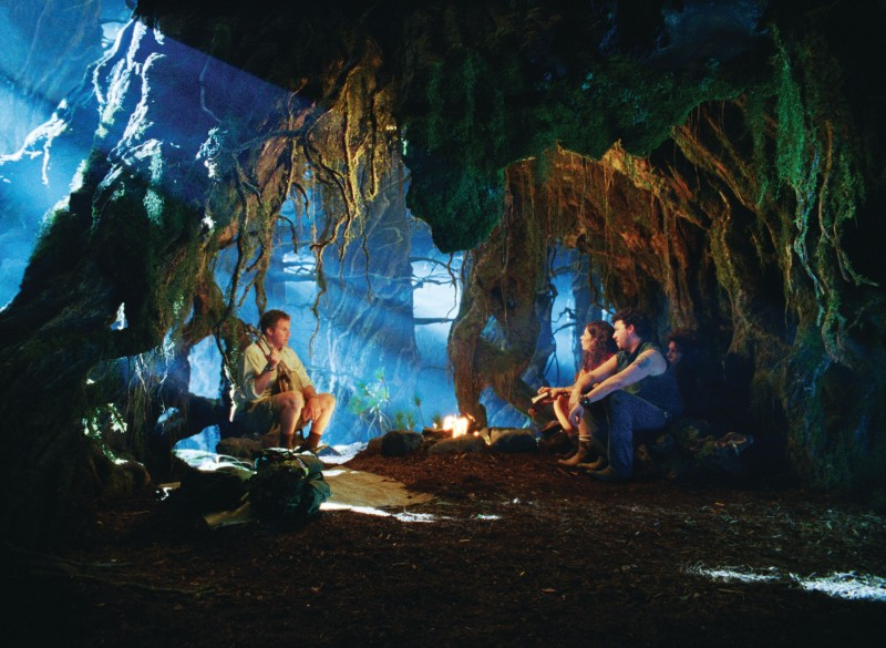 Will Ferrell, Anna Friel, Danny McBride e Jorma Taccone in una scena del film Land of the Lost