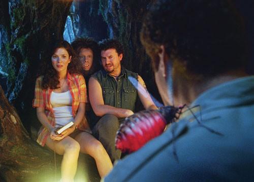 Will Ferrell, Anna Friel, Danny McBride e Jorma Taccone nel film Land of the Lost