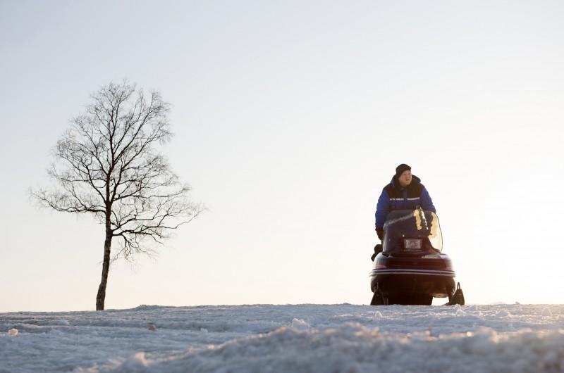 Anders Baasmo Christiansen in una scena del 'road movie' Nord.