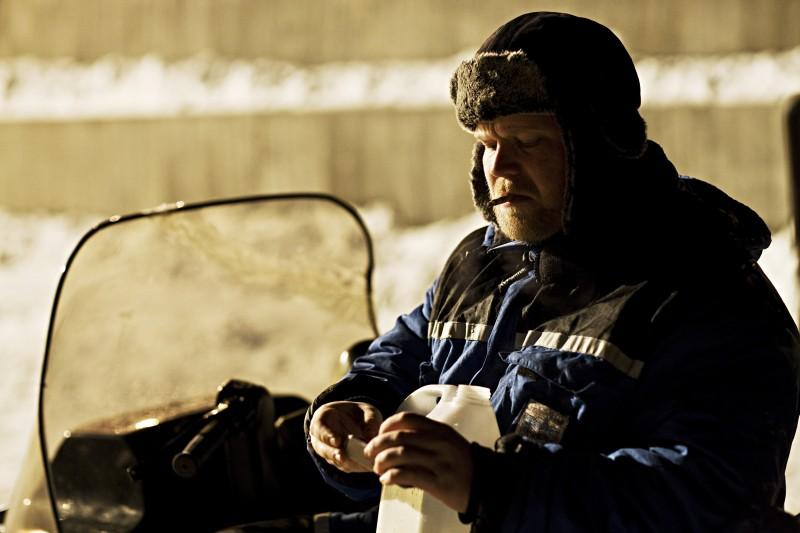 Anders Baasmo Christiansen in una sequenza del film svedese Nord (2008)