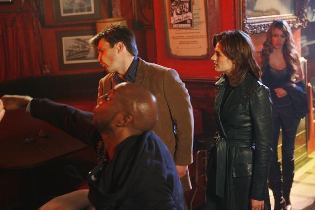 Castle: Nathan Fillion, Stana Katic e JB Smoove nell'episodio Love Me Dead