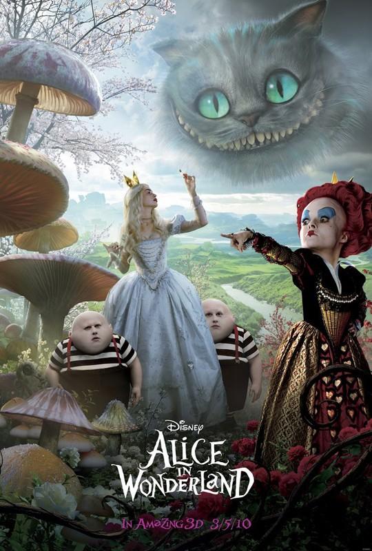 Il poster del film Alice in Wonderland
