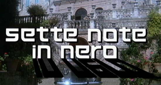 Titoli di testa del film Sette note in nero (1977)