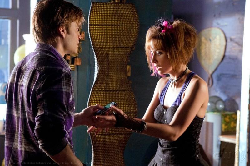 David Gallagher e Allison Scagliotti in una sequenza dell'episodio Idol di Smallville
