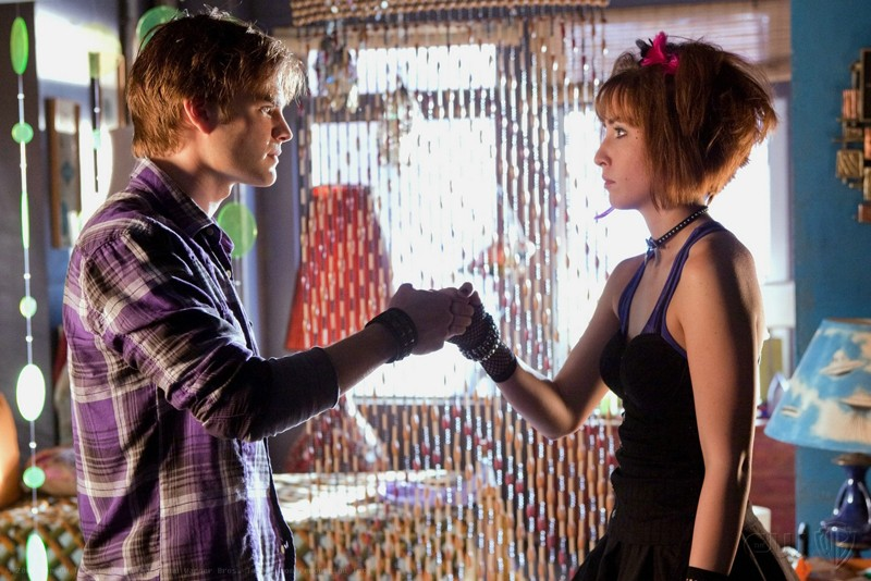 I 'Wonder Twins' (David Gallagher e Allison Scagliotti) in una scena dell'episodio Idol di Smallville