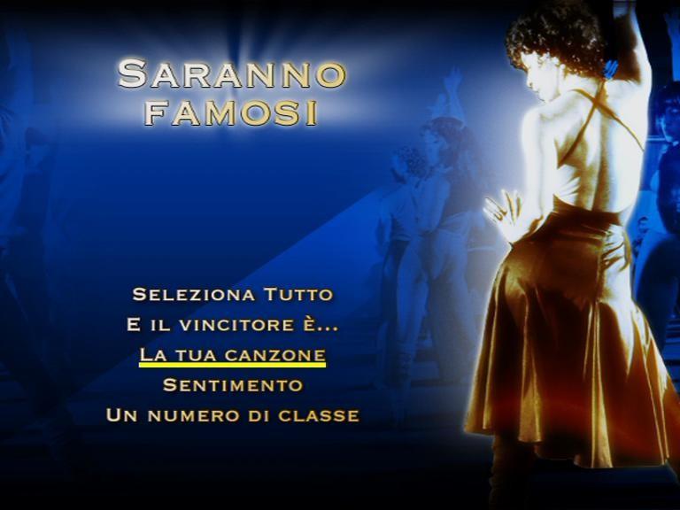 Il menù del primo disco della stagione 2 di Saranno Famosi