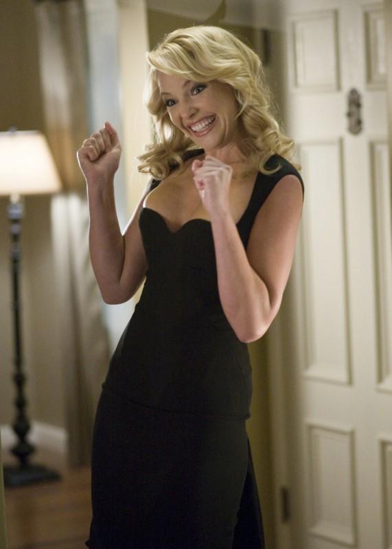 Katherine Heigl appare piacevolmente sorpresa nel film La dura verità (2009)
