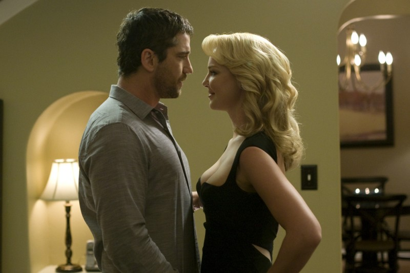 Katherine Heigl e Gerard Butler in una sequenza del film La dura verità (2009)