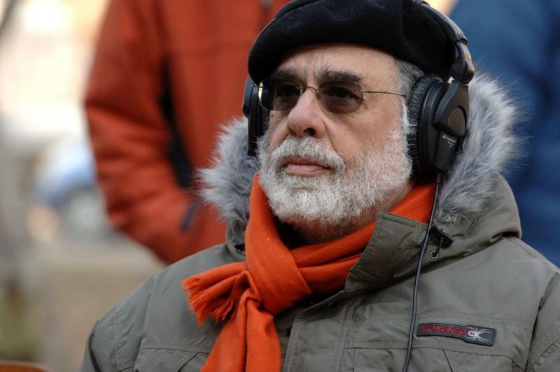 il regista Francis Ford Coppola sul set