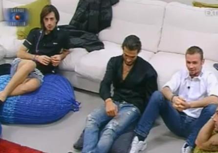 GF10, George con Gabriele e Maicol