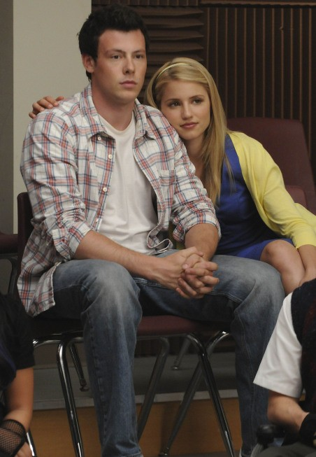 Glee: Cory Monteith e Dianna Agron in un momento dell'episodio Ballads