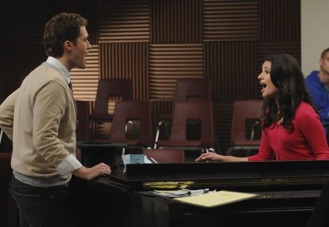 Glee: Matthew Morrison e Lea Michele in un momento dell'episodio Ballads