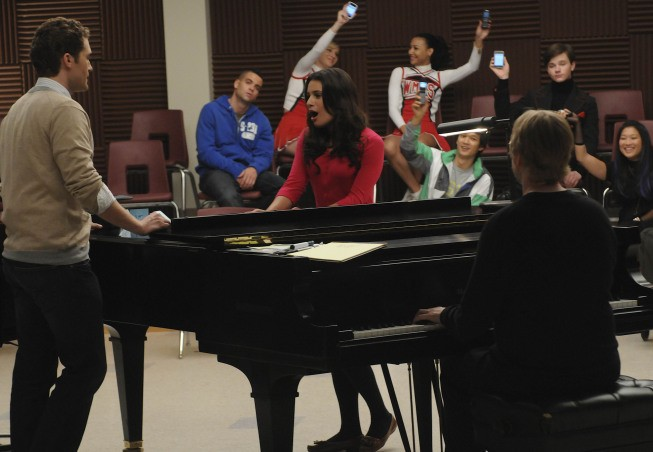 Glee: Matthew Morrison e Lea Michele nell'episodio Ballads