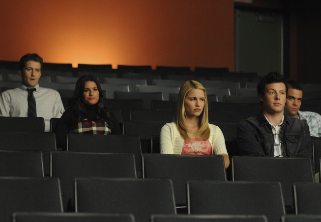 Glee: Una scena dell'episodio Hairography